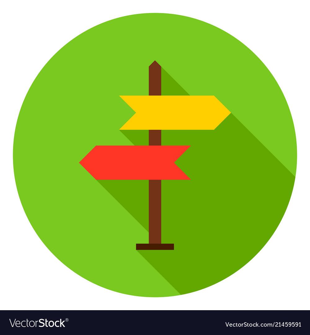 Navigation sign circle icon