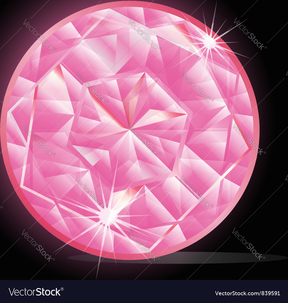 Pink Diamond vector image