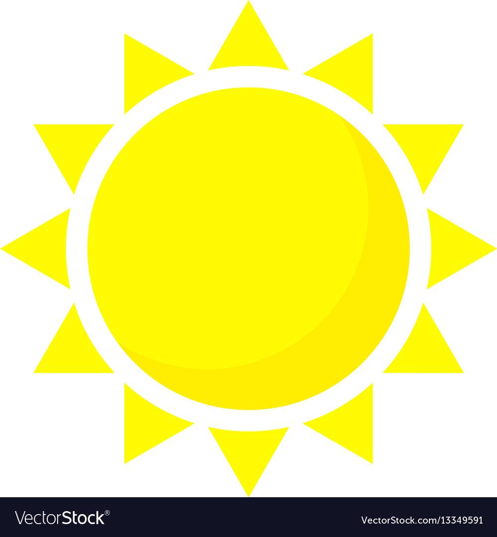 Summer sun icon cartoon style Royalty Free Vector Image
