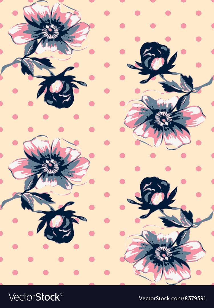 Vintage wallpaper seamless rose flower pattern