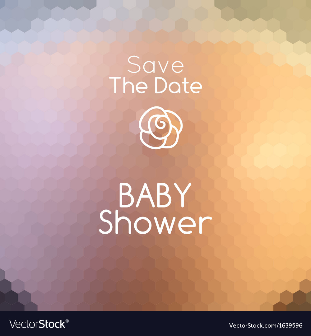 Baby shower invitation on abstract pregnant belly