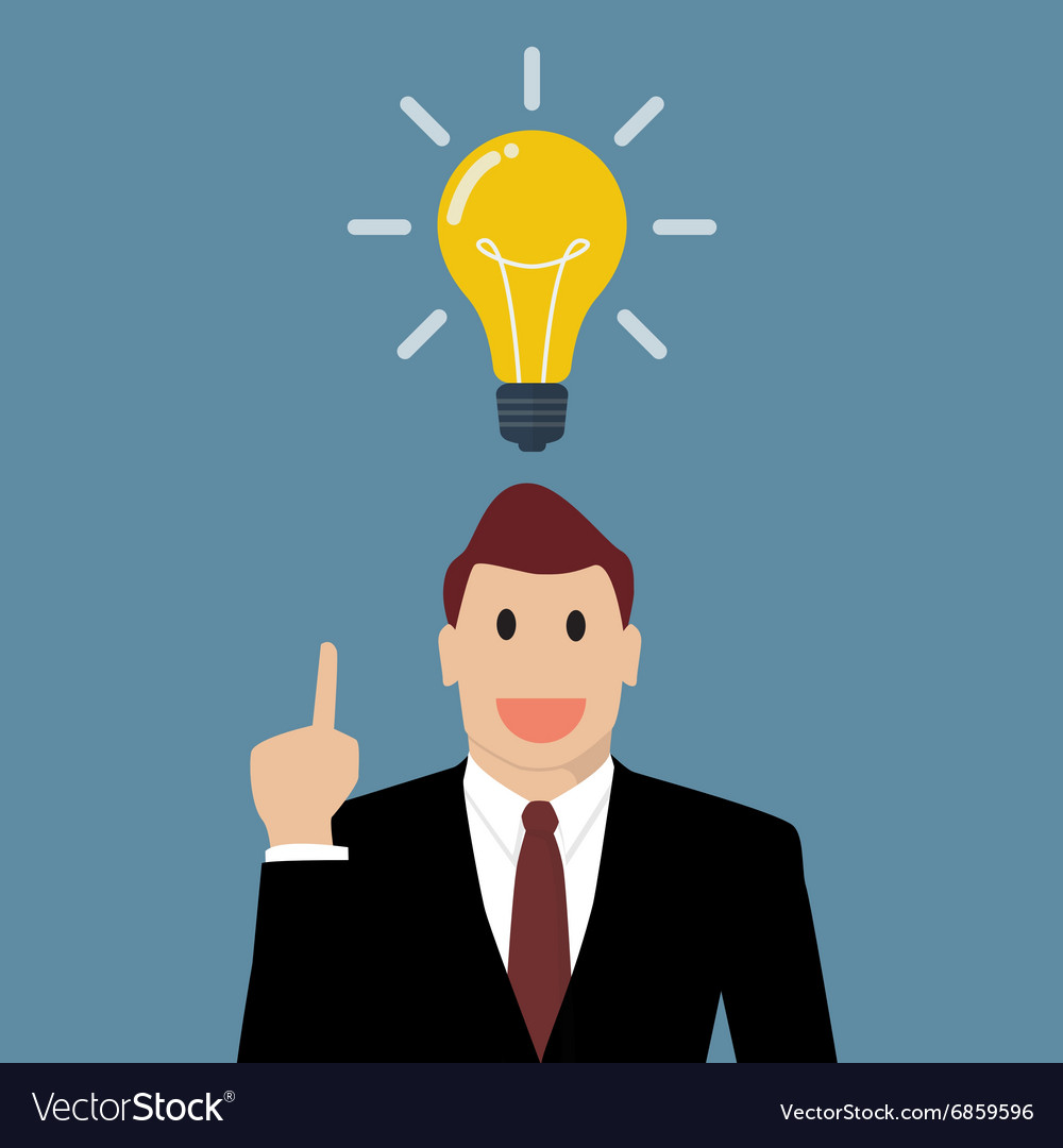 Businessman Thinking A New Idea Royalty Free Vector Image