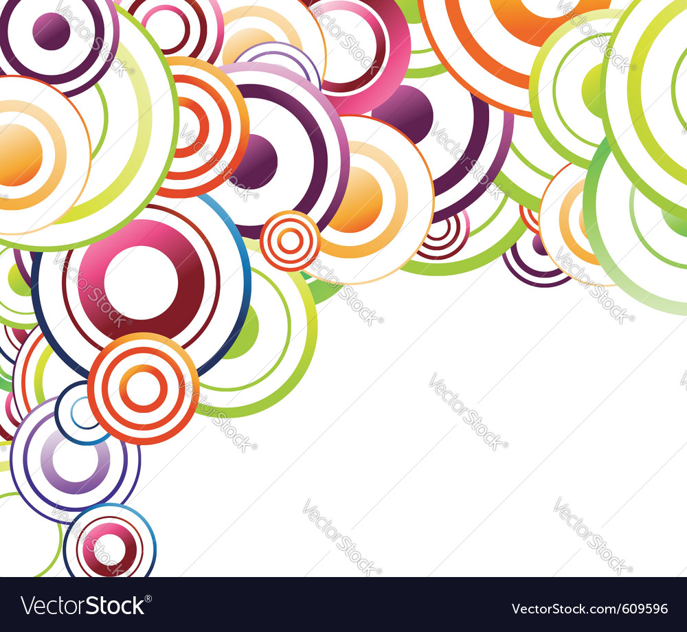 colorful background template rainbow circles vector image