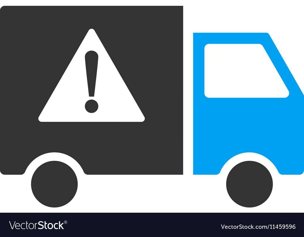 Danger Transport Truck Flat Icon