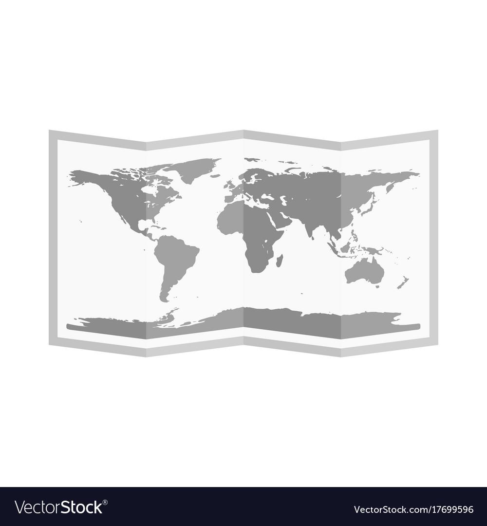 Folded world map flat style royalty free vector image folded world map flat style vector image gumiabroncs Choice Image