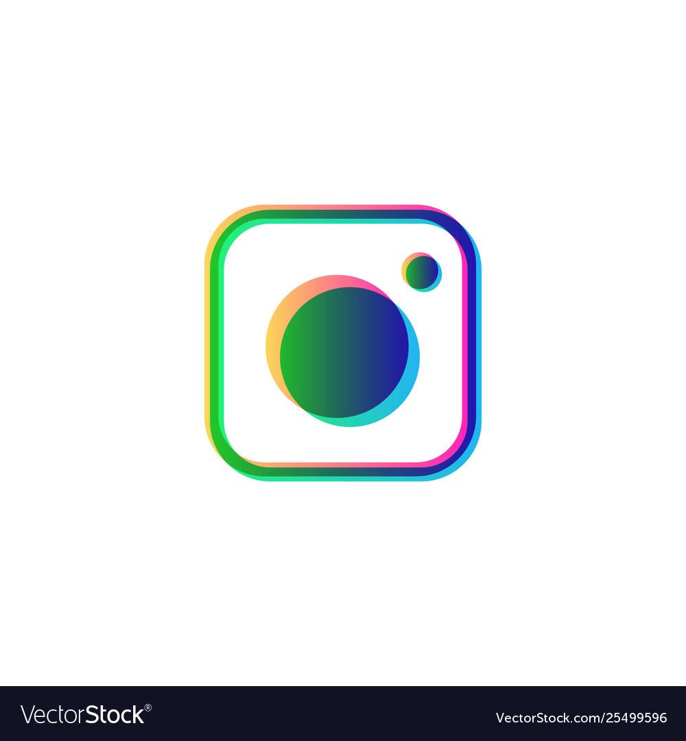 Instagram symbol social media isolated icon logo