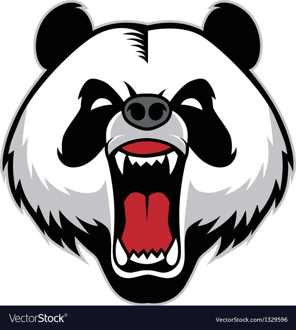 Panda head mascot