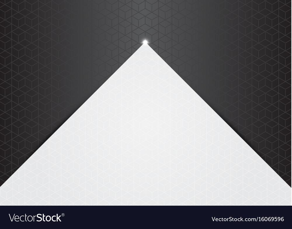 Polygon background hexagons half gray
