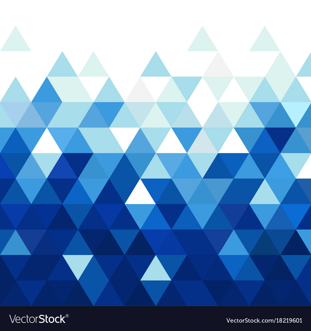 Abstract blue triangle modern template for