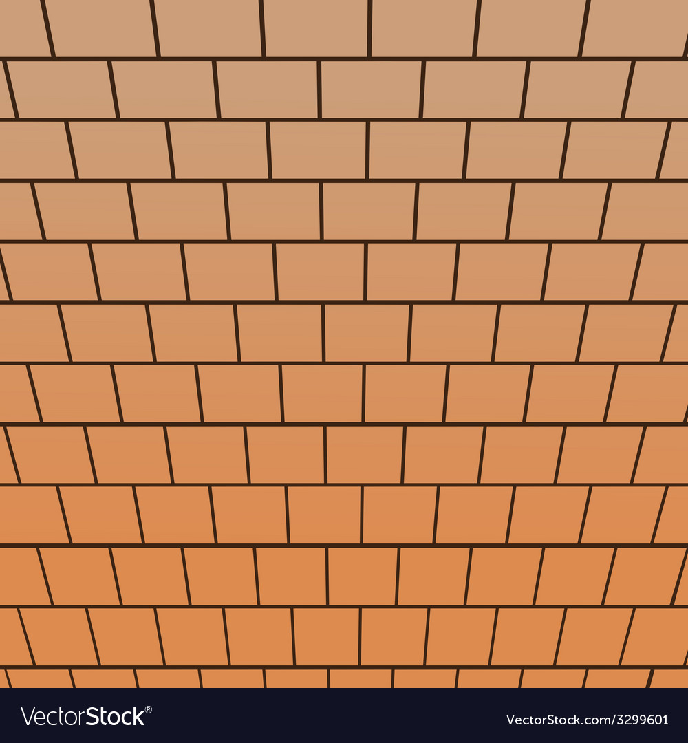 Brick wall top-down view perspective vector image