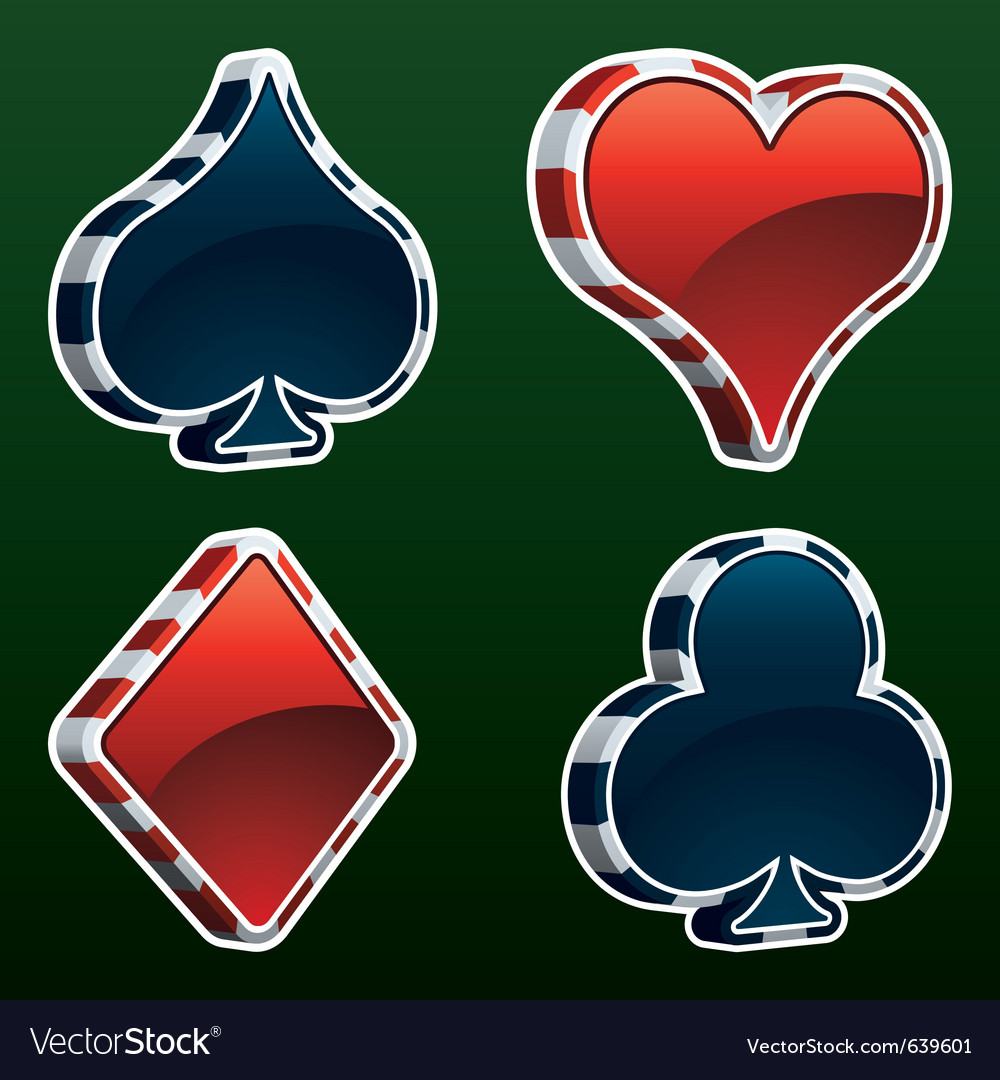 Card suit icons