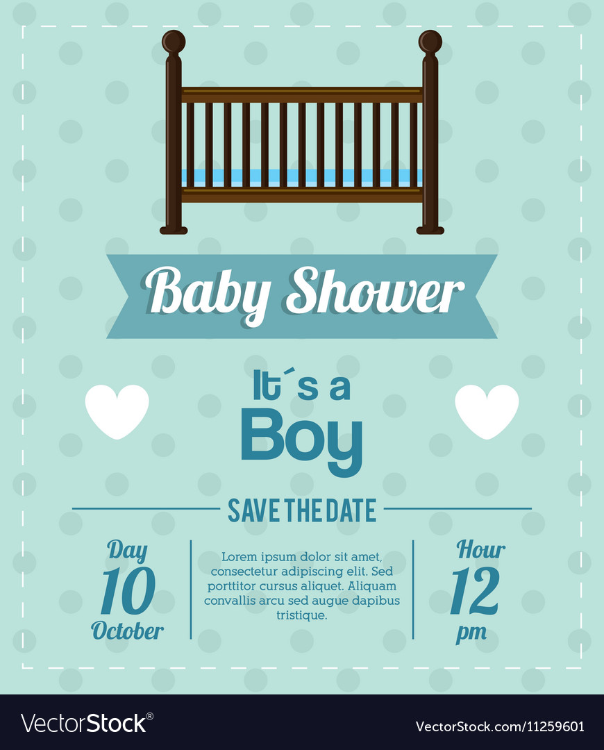 Cradle of baby shower card design
