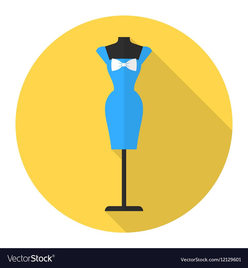 Fashion mannequin flat icon