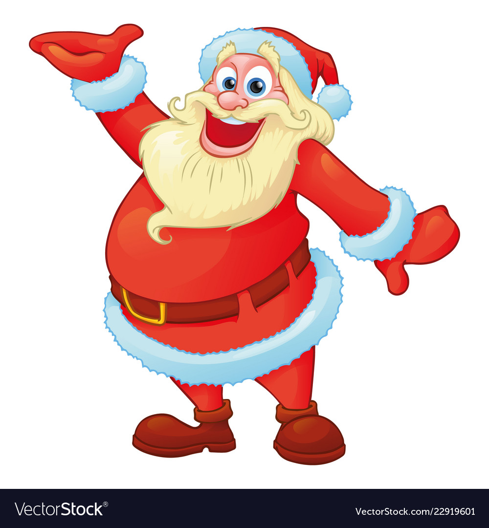 Funny santa in cartoon style