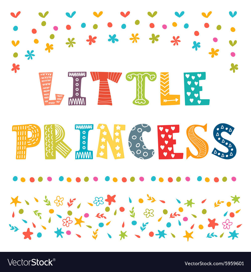 Little Princess Cute greeting card for little girl