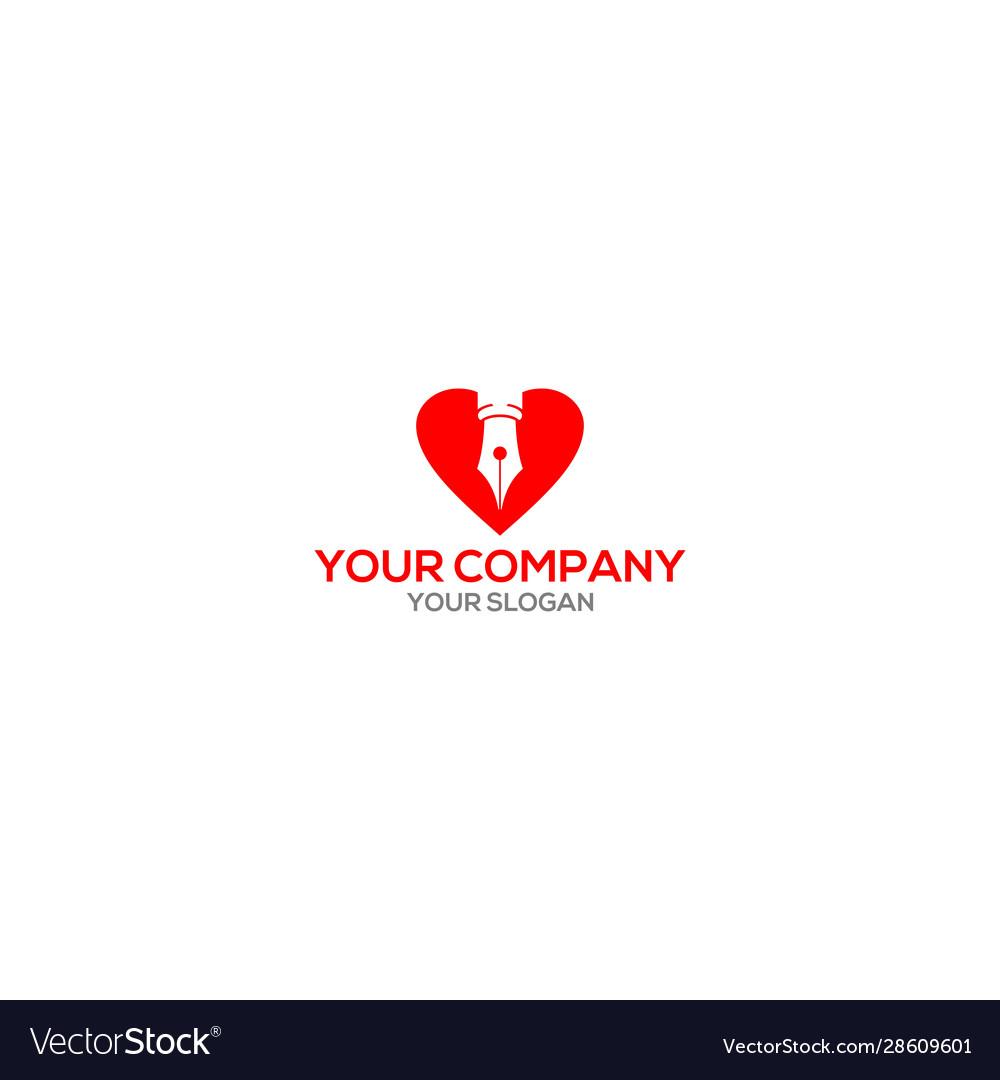 Love writer logo design