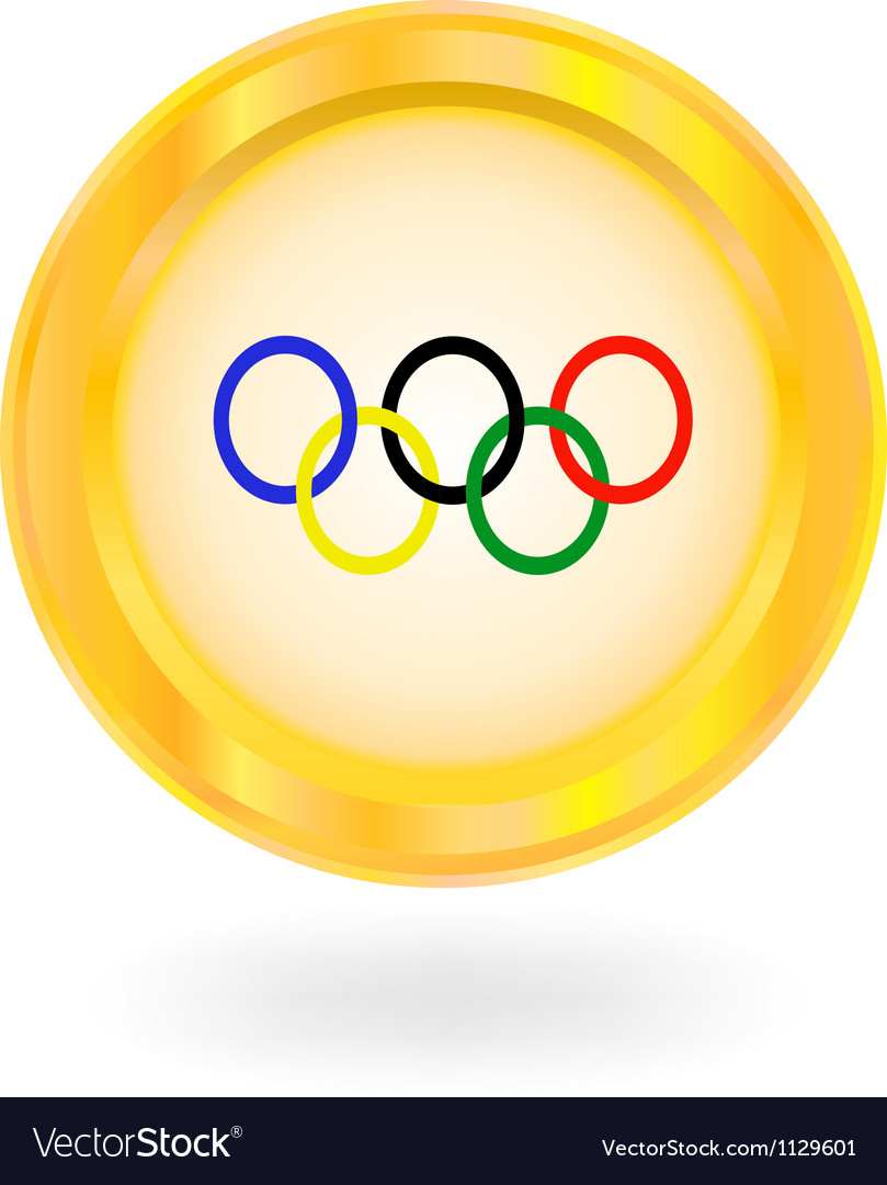 Olympic rings vector image