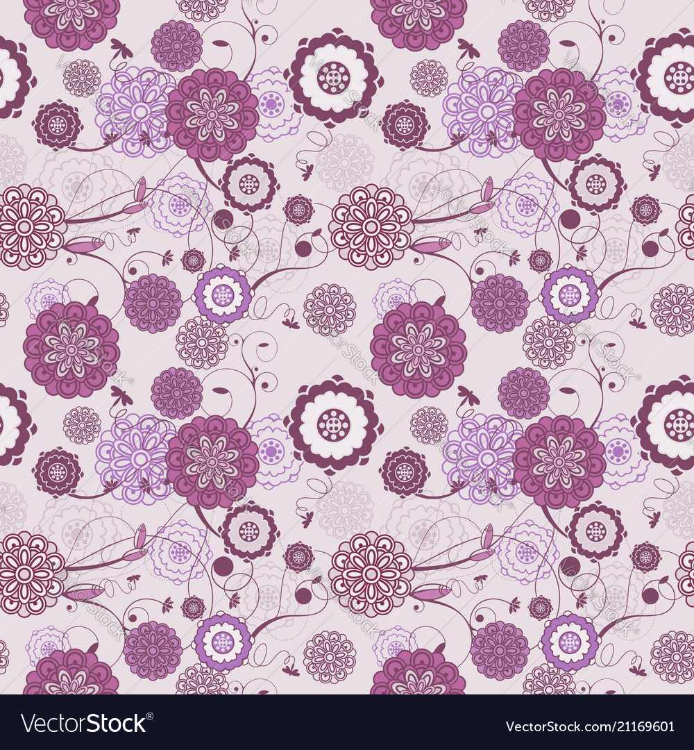 Seamless pattern with romantic floral background