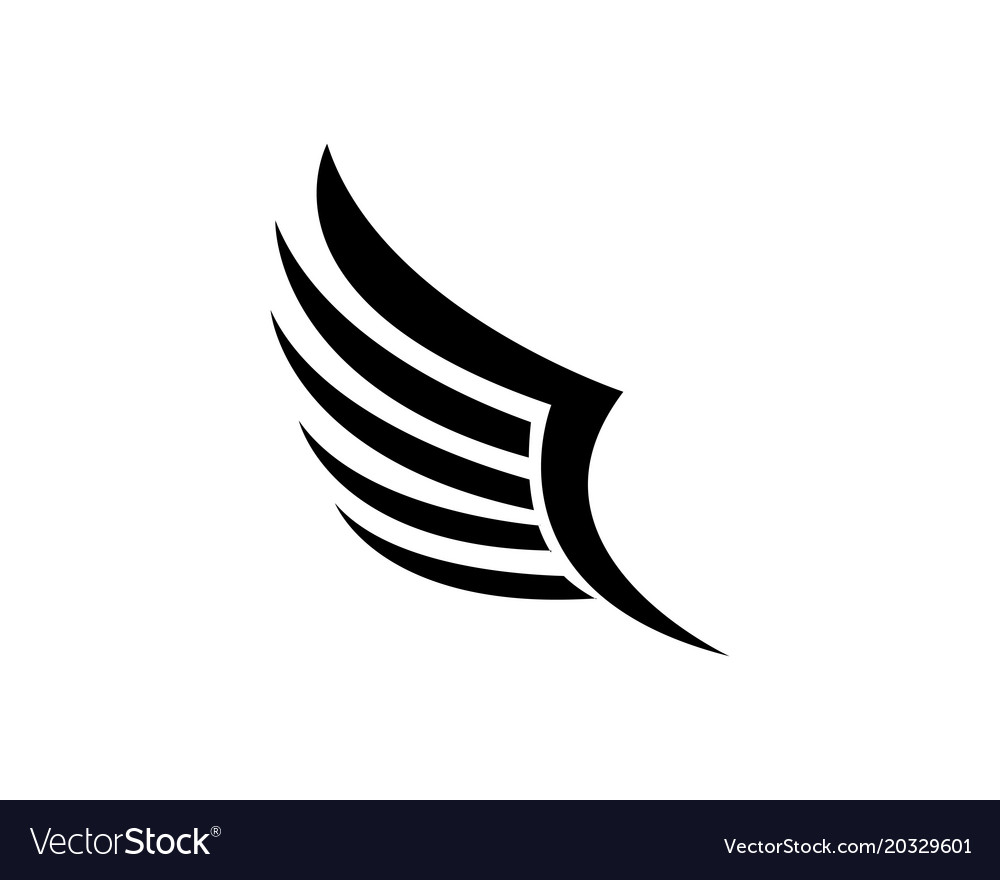 wings bird sign abstract template icons app vector image