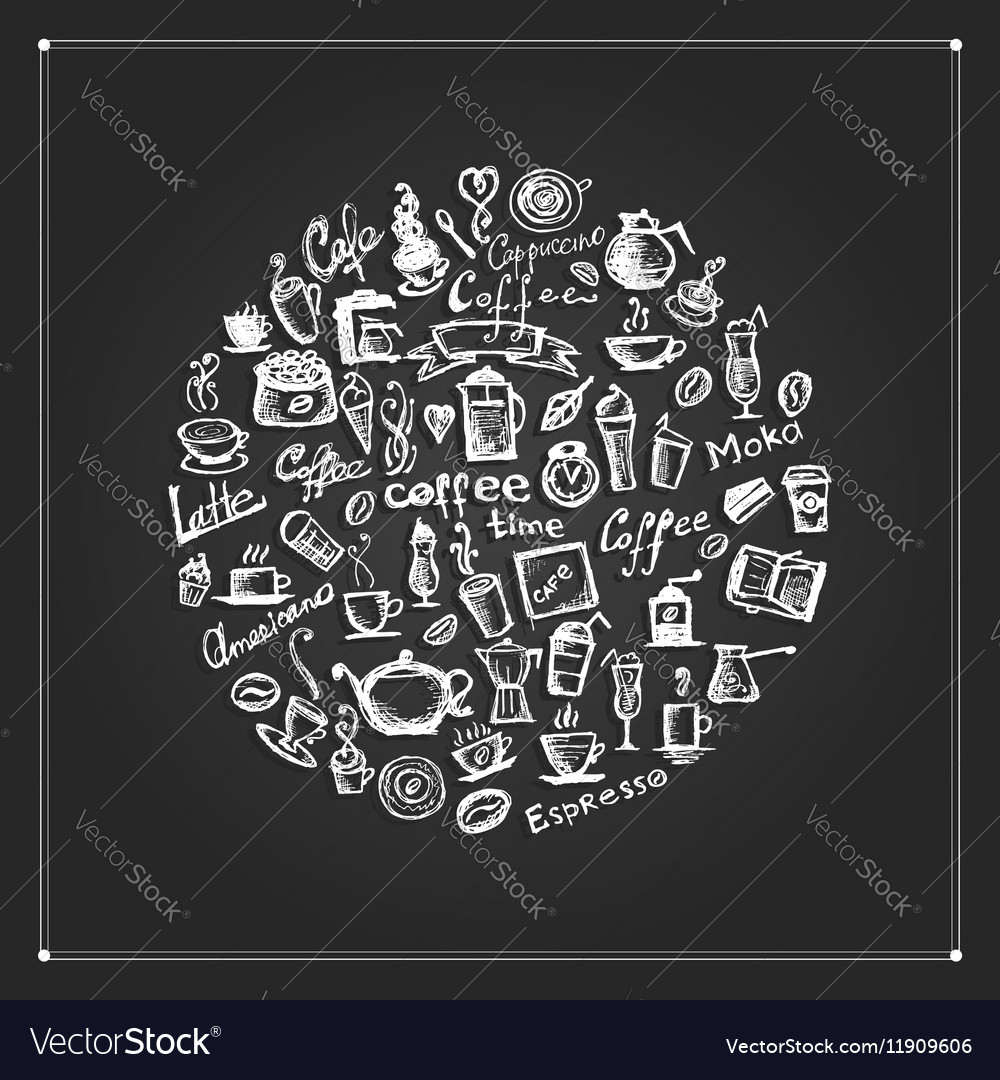 Coffee time frame for your design vector image