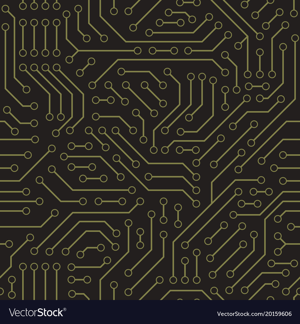 Computer Circuit Board Royalty Free Vector Image Detail Of A Printed Stock