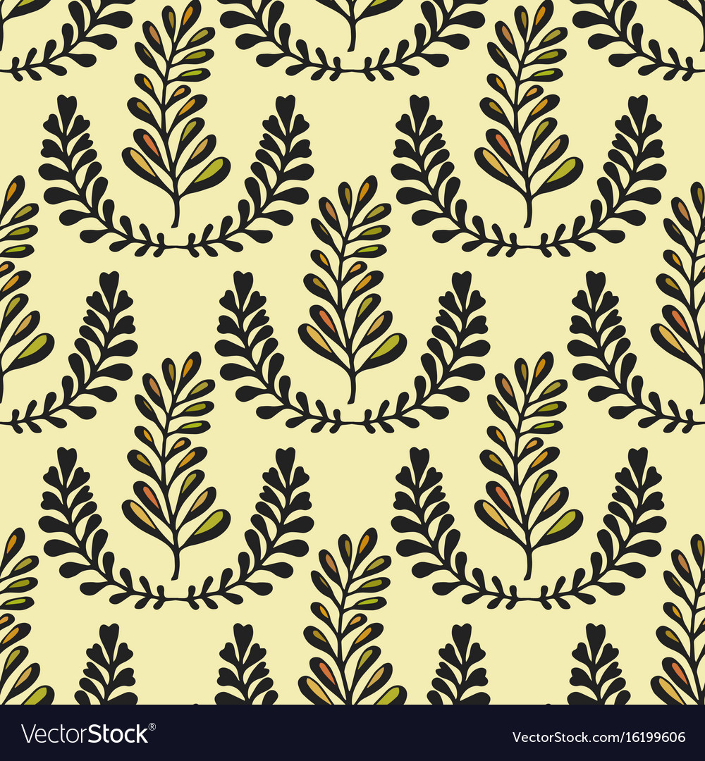 Ethnic seamless pattern with ornamental stylized vector image