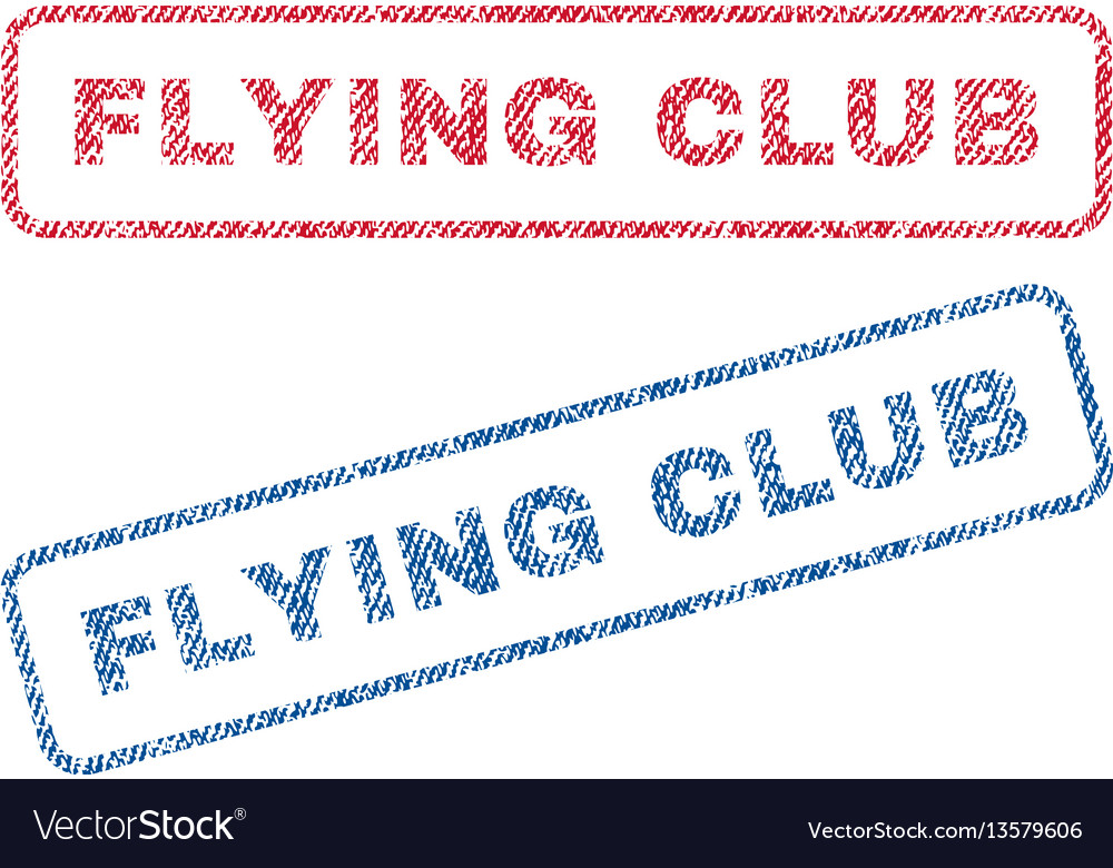Flying club textile stamps vector image