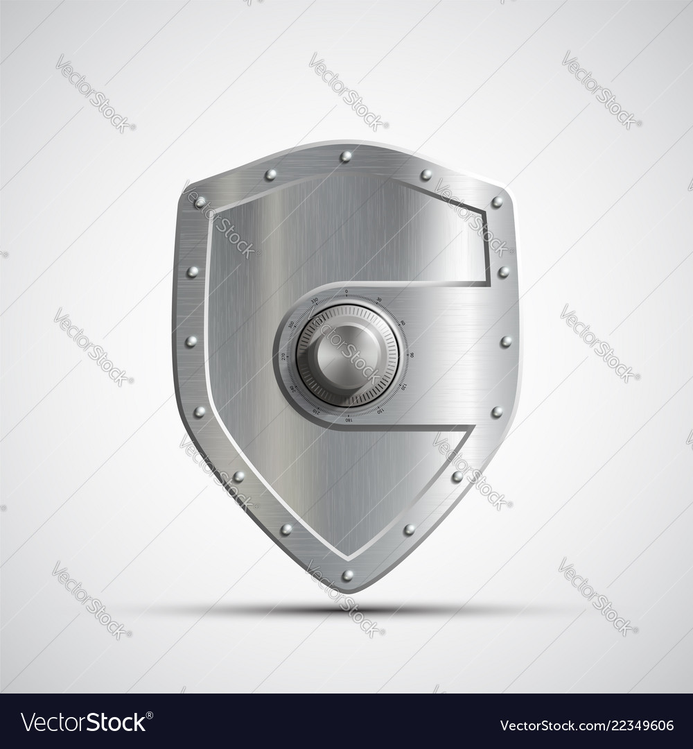 Icon metal safe in the form of a shield