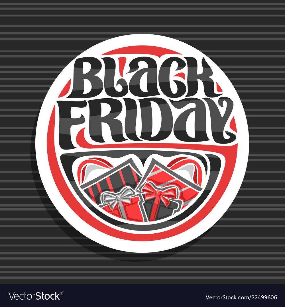 Logo for black friday