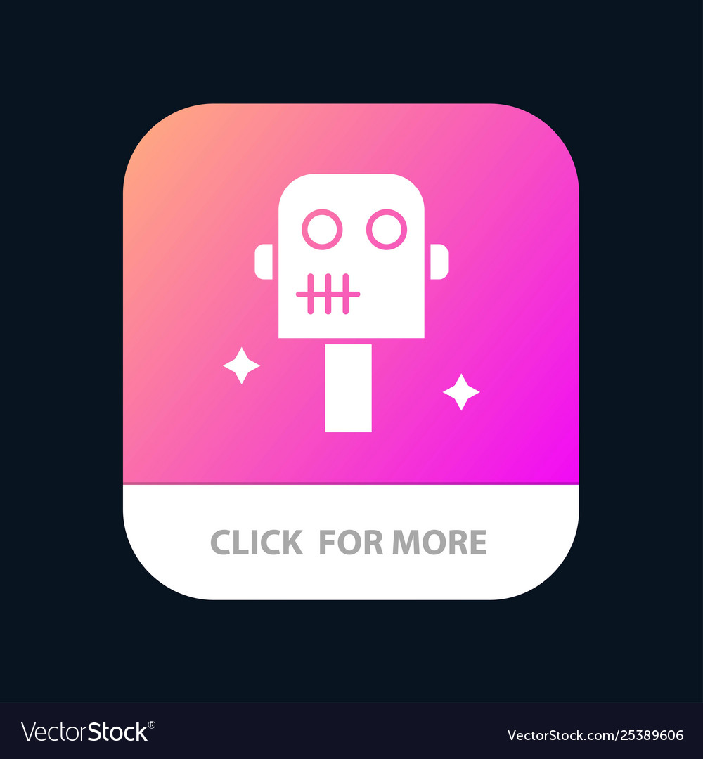 Space suit robot mobile app button android and