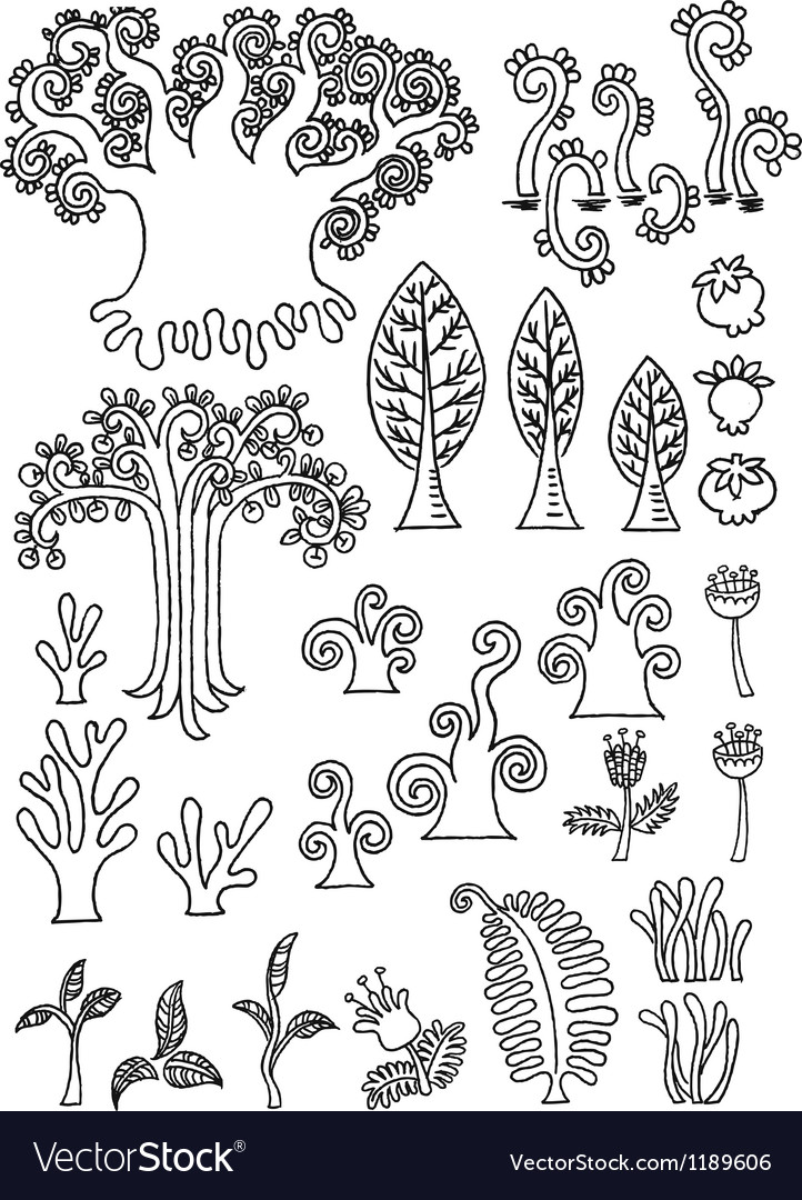 Tree doodle vector image