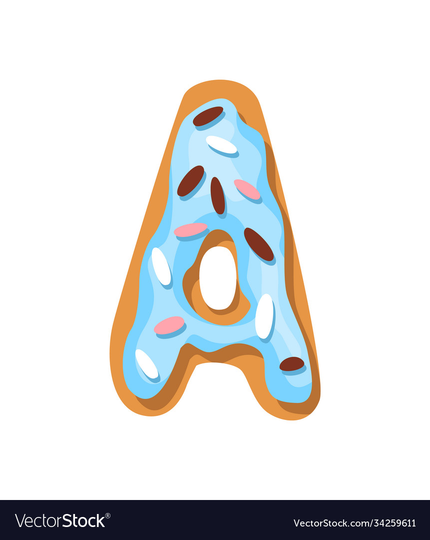 Cartoon cookies font confectioners stylized