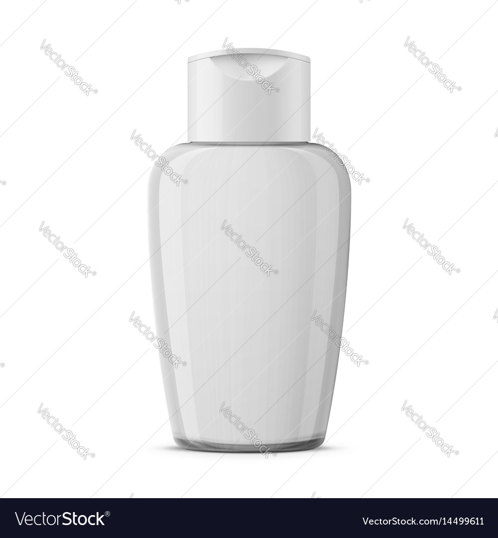 Clear plastic cosmetic bottle template