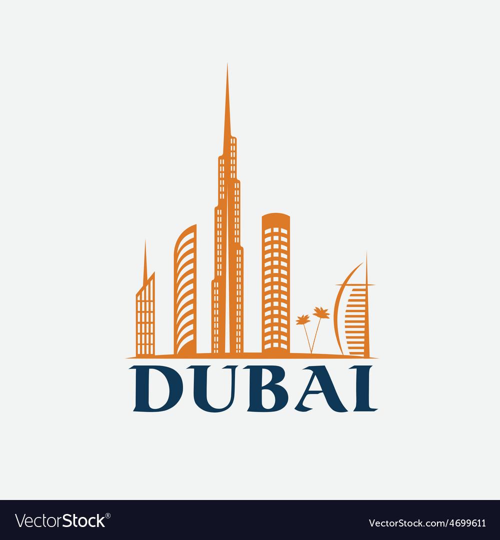 Dubai City Skyline design template