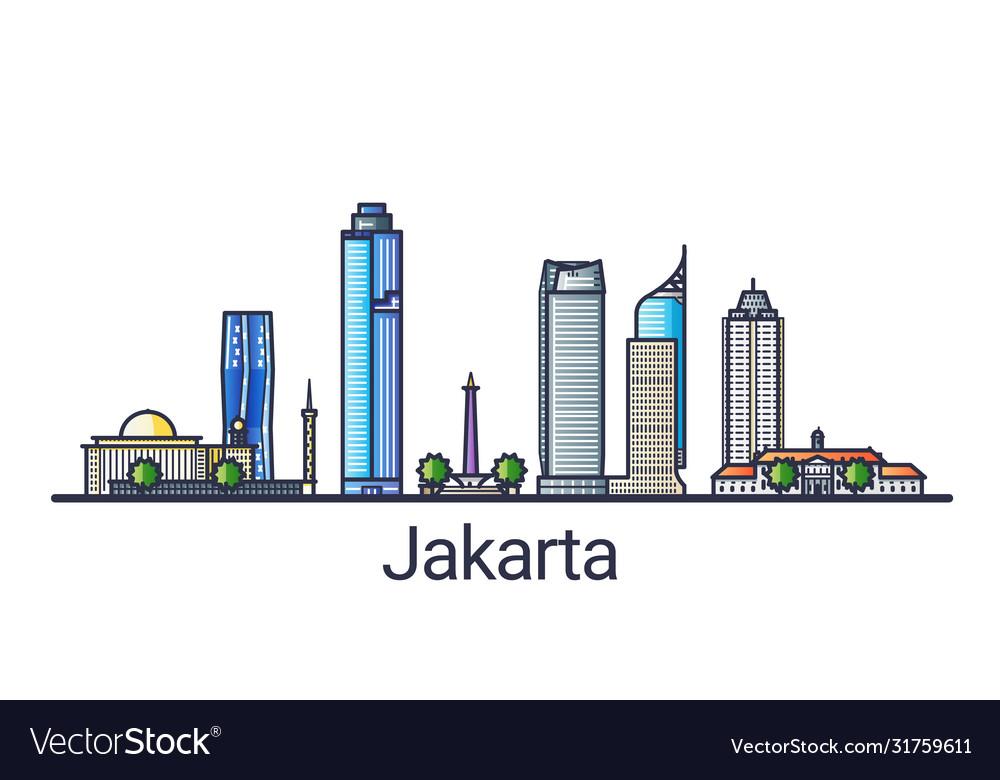 Flat line jakarta banner