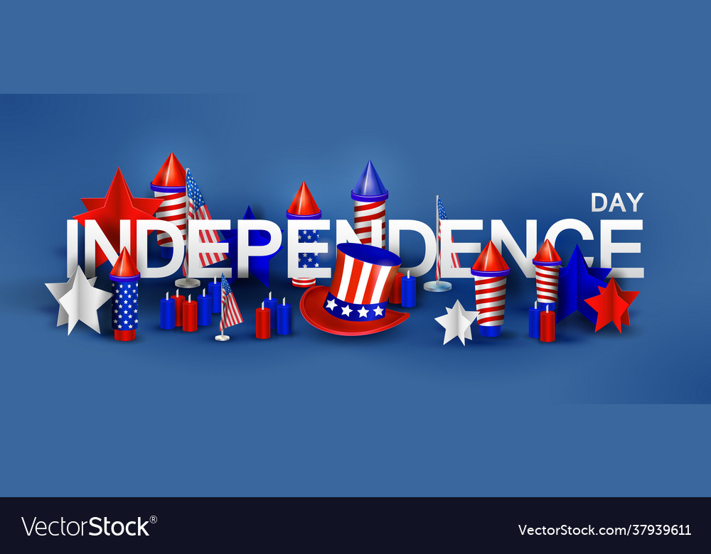 Independence day background with special objects