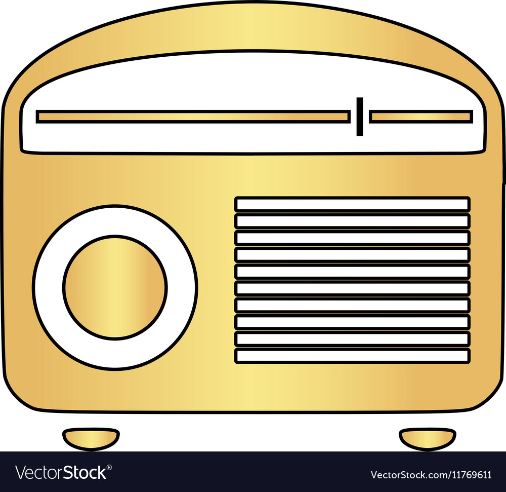 Retro radio computer symbol