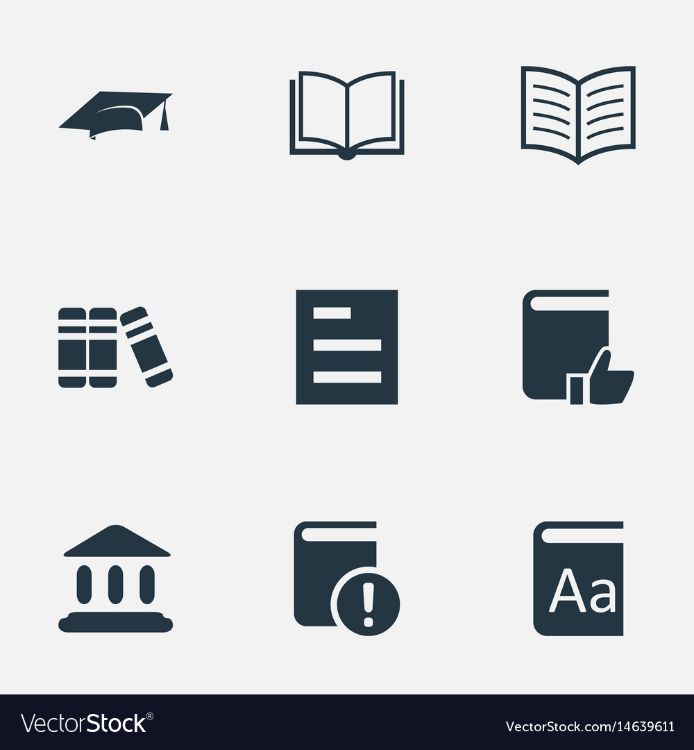 Set of simple reading icons