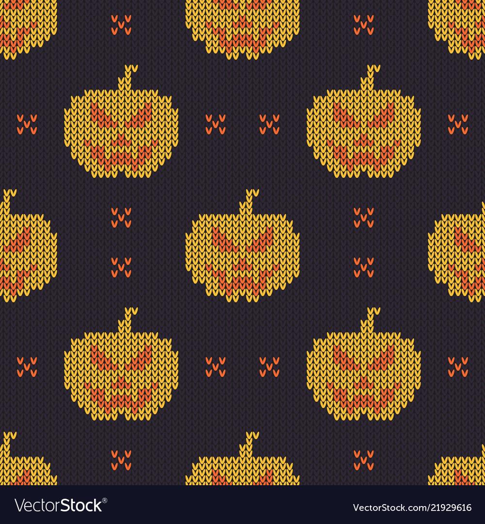 Halloween knitted pattern seamless knitting