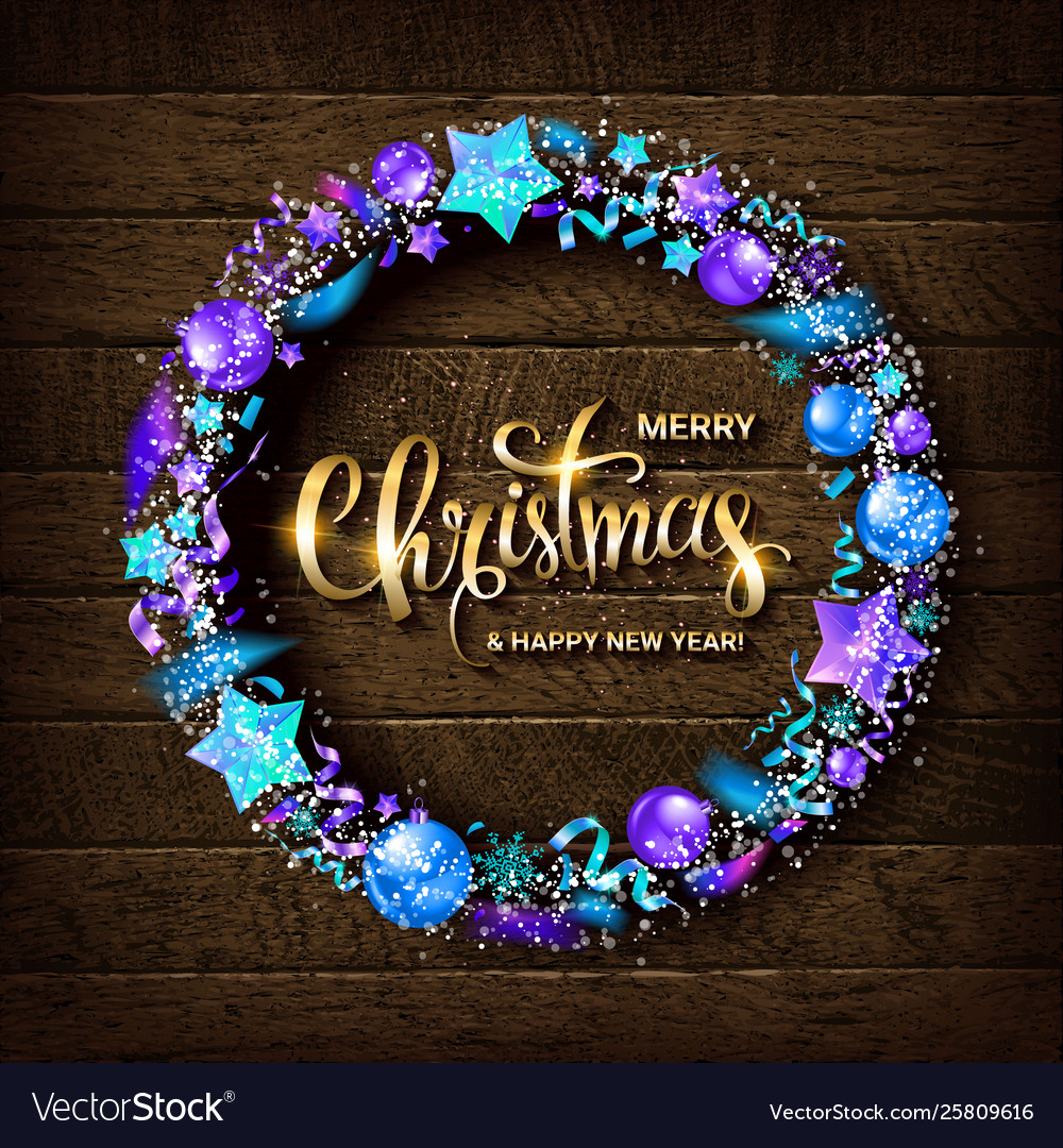 Merry christmas gold text for card