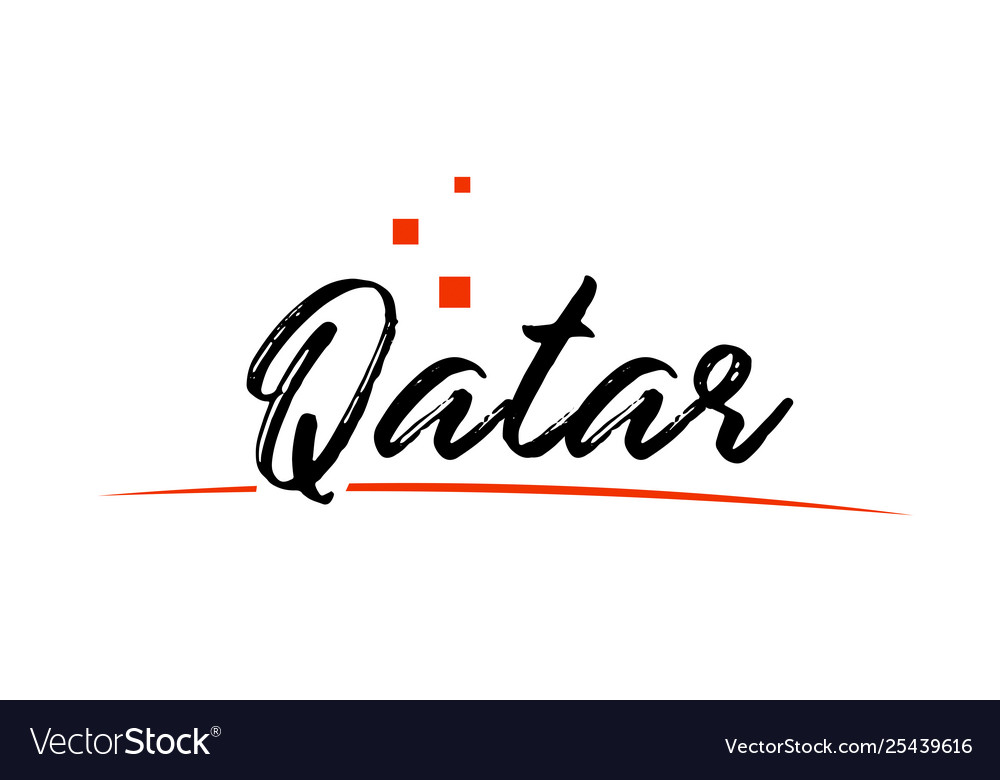 Qatar country typography word text for logo icon