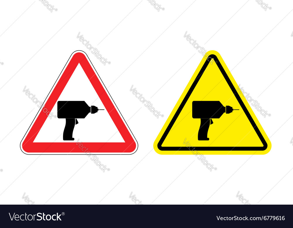 Warning sign attention drill Hazard yellow sign