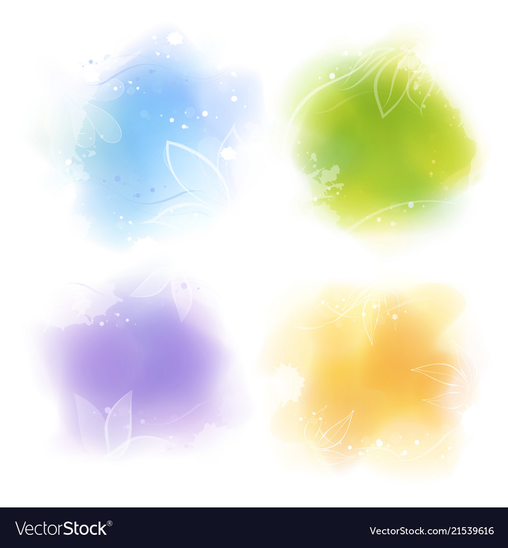 Watercolor style colorful backgrounds