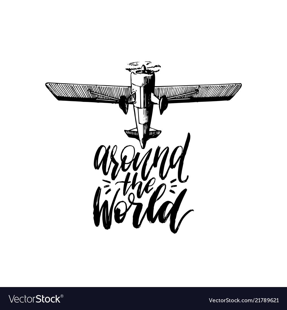 Around the world typography inspirational
