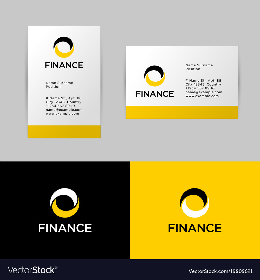 Bank or finance logo and identity