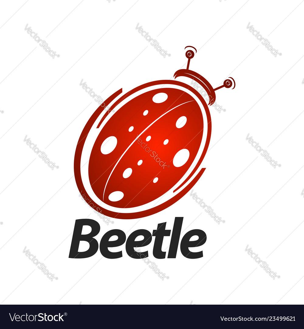 Beetle logo concept design symbol graphic