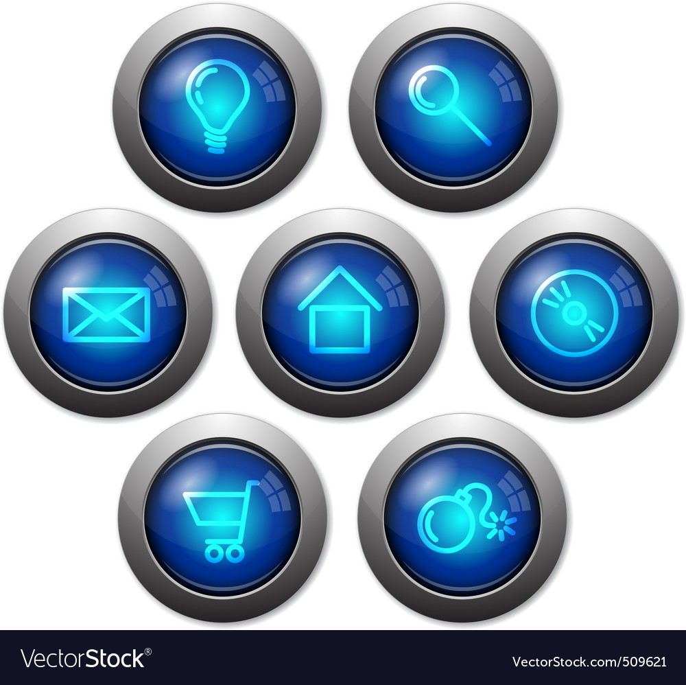 Colorful glassy web buttons