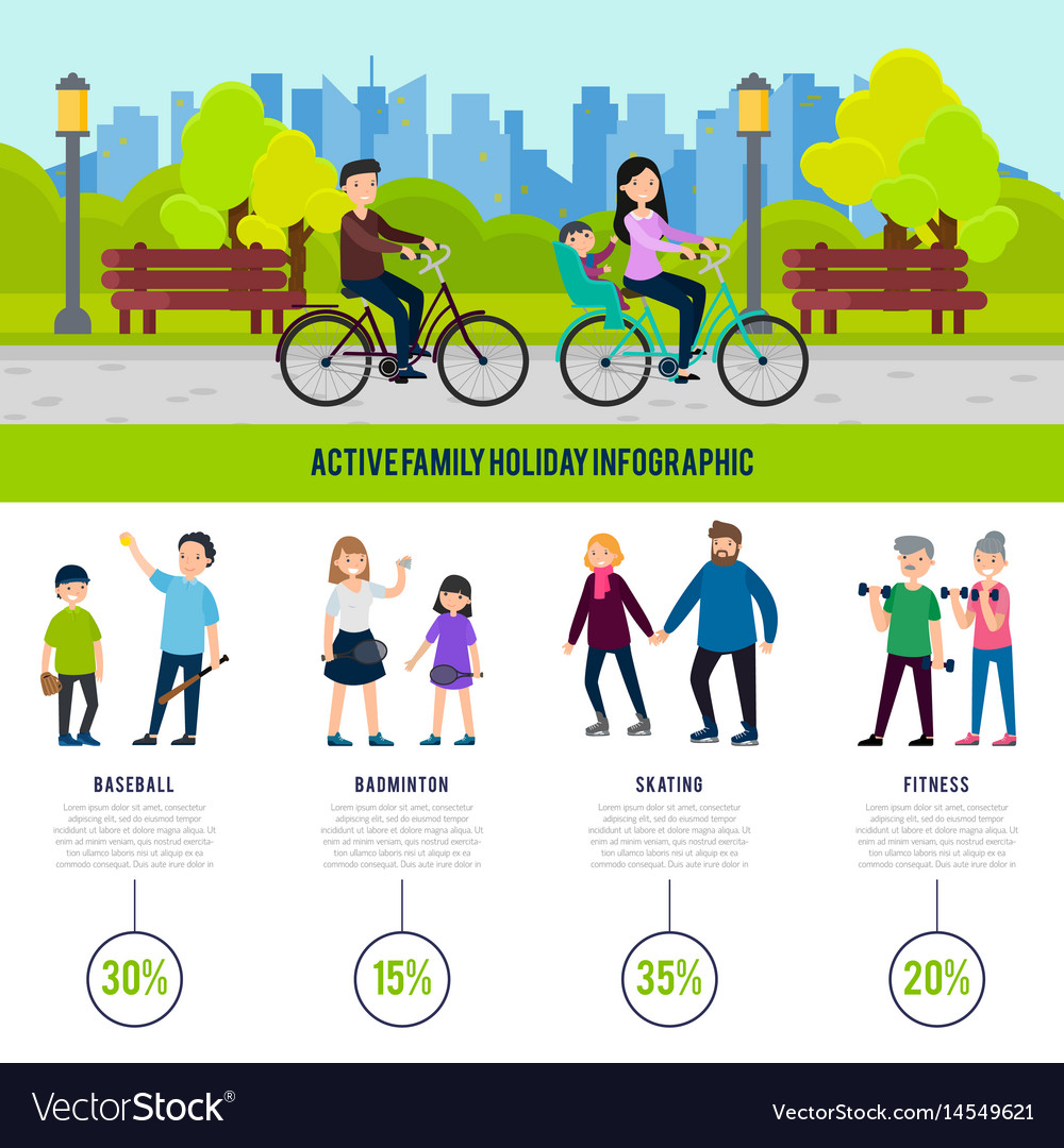Healthy family infographic concept