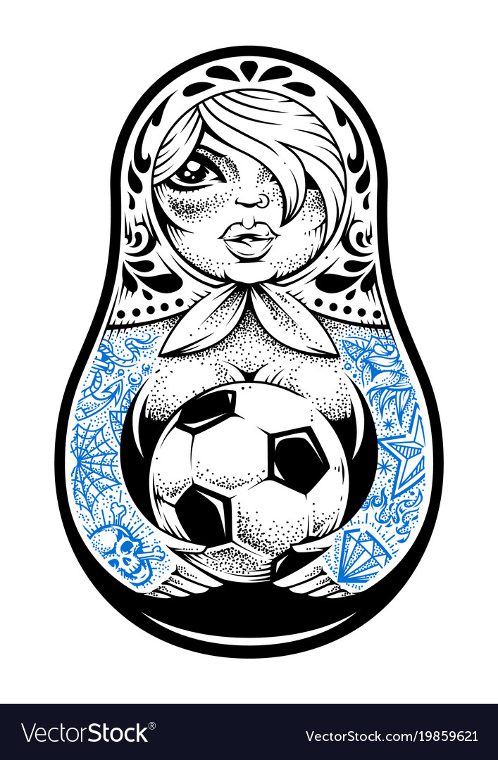 Matryoshka with tattoos