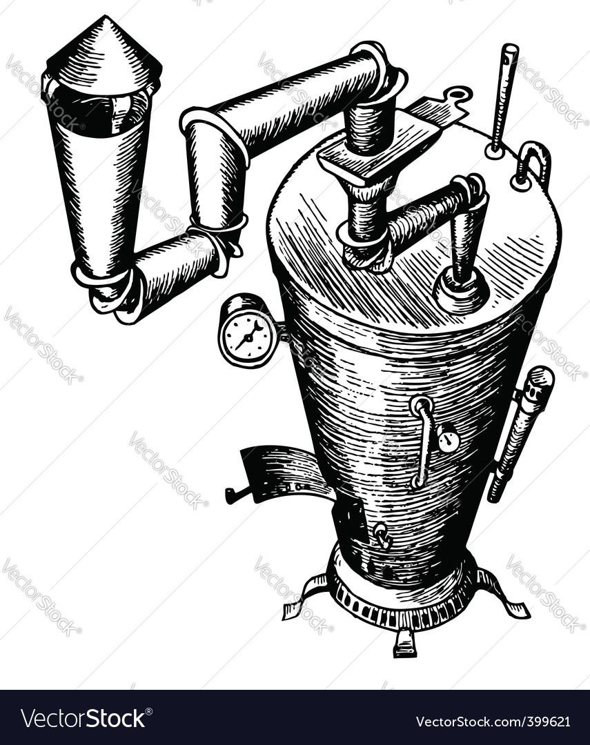 Pot bellied stove vector image